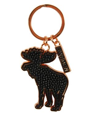 Keychain Black Moose