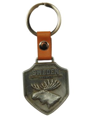 Keychain Shield Moose Sweden