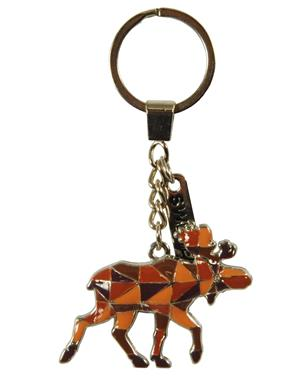 Keychain Mosaic Patterned Moose