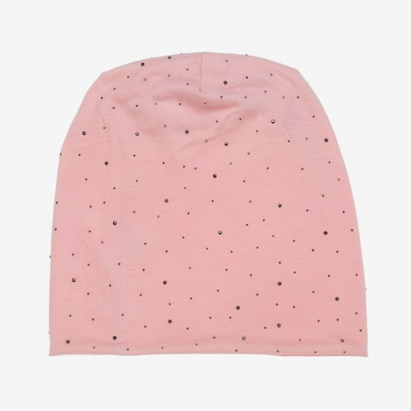 Pink Hat With Rhinestone