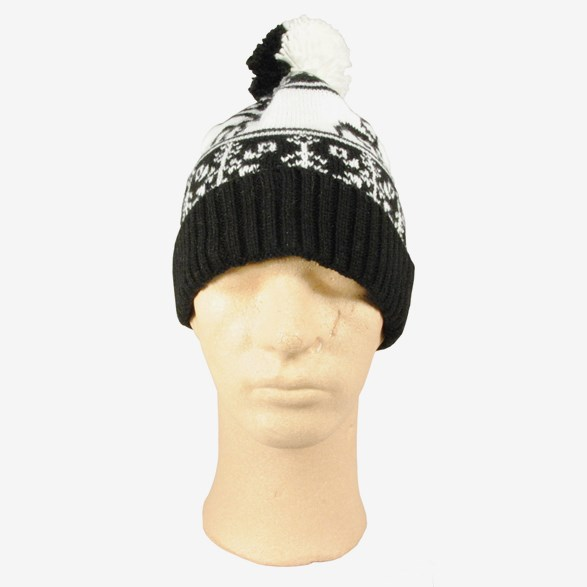 Knitted Hat Black & White