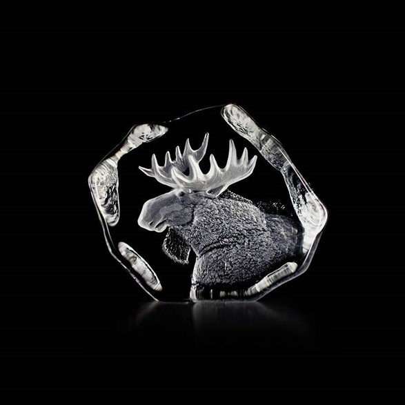 Crystal Sculpture Moose