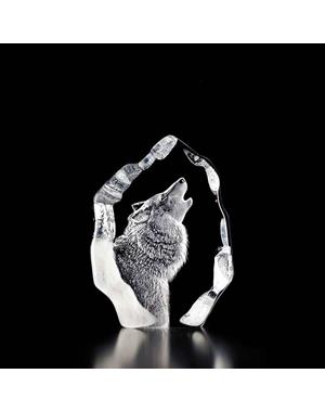 Crystal Sculpture Wolf