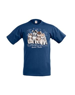 Kids T-Shirt Husky Blue