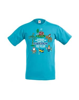 Kids T-shirt Someone Who Loves Me Blue