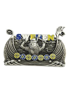 Fridge Magnet Metal Viking Ship