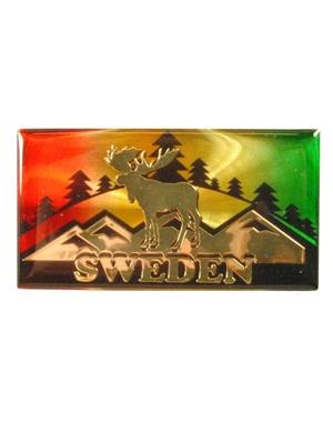 Fridge Magnet Moose Sweden