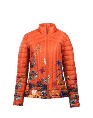 Down Jacket Woman - Flowers Rust