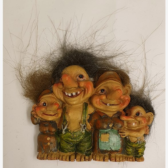 Fridge Magnet Troll Family