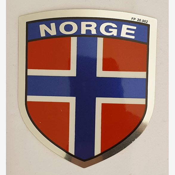 Sticker Norwegian Flag