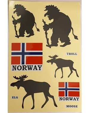 Decals With Trolls Mooses And Norwegian Flags