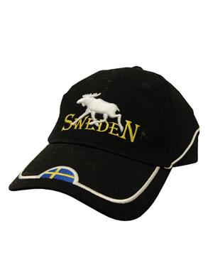 Black Cap With Moose Sweden