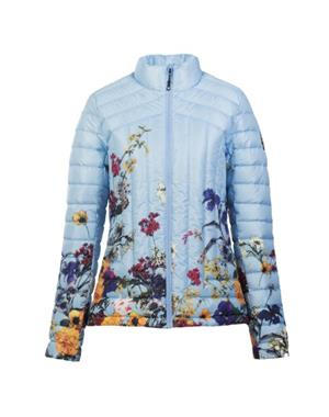 Down Jacket Woman - Flowers Lighblue